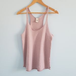 TNA lilac loose and flowy racerback tank top